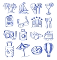 hand draw travel vector image vector image