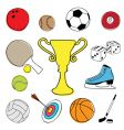 sport item design elements vector image