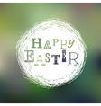 happy easter mesh card vector image