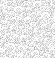 abstract monochrome spiral seamless pattern vector image