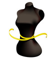 Mannequin and measuring tape vector image