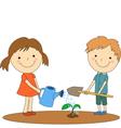 children help 1 vector image