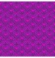 lilac chain of hearts seamless pattern vector image