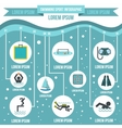 Swimming sport infographic elements flat style vector image