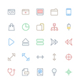 User Interface Colored Line Icons 19 vector image