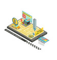 call taxi by gadget isometric design vector image