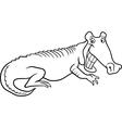 cartoon crocodile for coloring book vector image