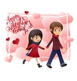 detailed flat valentines day card with vector image