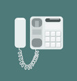 flat telephone vector image