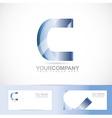 Letter C logo vector image