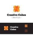 modern orange geometric logo Abstract vector image