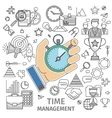 Organizes working time vector image