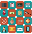 Set of flat color icons Concept for online store vector image