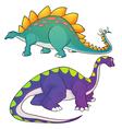 stegosaurus apatosaurus vector image