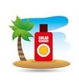 tropical vacation beach solar blocker icon vector image