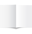 White Empty Brochure vector image