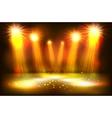 scene illumination show bright lighting with gold vector image