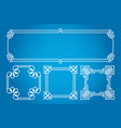 square and rectangle asian korean chinese vector image