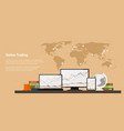 stock trading online vector image vector image