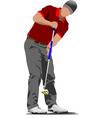 al 0612 golfer 01 vector image vector image