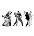 Classical dance trio vector image