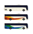 Set of three coach bus icons vector image vector image
