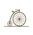 old bicycle color vector image