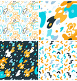 abstract background and seamless patterns with vector image vector image