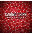 casino chips top view with shadows vector image
