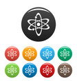 atom icons set vector image