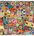 Geometric seamless patchwork style pattern vector image