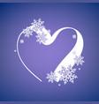 heart snow frame vector image