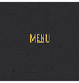 Menu design template Restaurant Seamless Pattern vector image