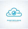 photo cloud vector image