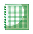 shadow green notebook cartoon vector image