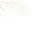 Festive glittering gold confetti falling EPS 10 vector image