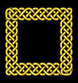 square golden celtic knots frame vector image