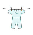 drying of clean things dry cleaning single icon vector image