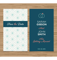 wedding card pattern green 01 vector image