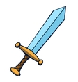 Cartoon sword vector image