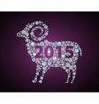2015 sheep vector image vector image