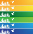 banner with a bird vector image vector image