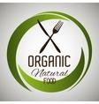 Natural and organic food vector image