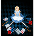 Sitting Alice vector image