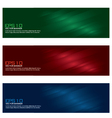 colorful banner set vector image vector image