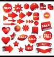 red signs vector image vector image