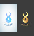 abstract infinity sign emblem or logo vector image