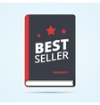 Bestseller book icon vector image
