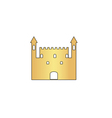 Castle computer symbol vector image