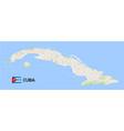 cuba map tourist vector image